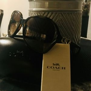 Sunglasses Glasses Coach Kissing C black and brown